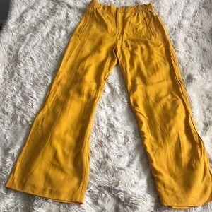 Zara wide leg mustard pants
